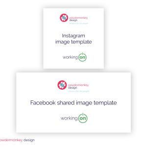 DIY social media templates by Powdermonkey Design