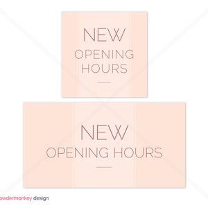 New Opening Hours Social Media Graphics Bundle 2